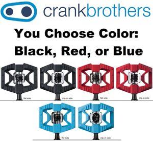 Crank-Brothers-Double-Shot-1-Clipless-amp-Platform-Bike-MTB-Pedals-Asst-Colors