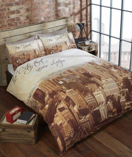 Ropa de cama de cama conjunto de funda nórdica ciudad Ropa de Cama Urban adolescente/'s New York