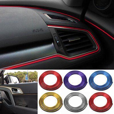 5M DIY Car Interior Decor Door Sticker Moulding Styling Strip Trim Decals Line