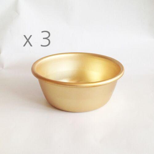 4.9 inch x 3 Korean Spirit Rice wine Makgeoli drinking bowl aluminum bowl