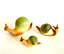 Snail-Figurines-Set-of-Three-Shiken-Japan-Bone-China-Rare-Green-Shells thumbnail 1