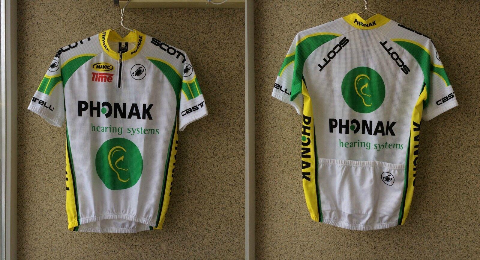 Castelli Phonak Cycling Shirt M Jersey Camiseta  OLD Yeelow