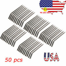 50pcs Dental Nozzles Tips for 3-way Air Water Triple Syringe Autoclave Metal