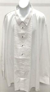 New-CHAPLIN-Men-039-s-White-Solid-Cotton-Blend-Formal-Shirt-Size-5XL-38-39