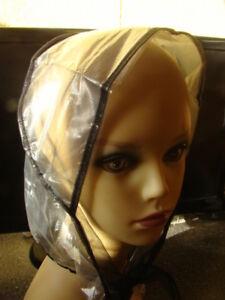 1x-Regenhaube-Modern-als-Regenschutz-oder-Haarschutz-Farbe-transparent-Schwarz