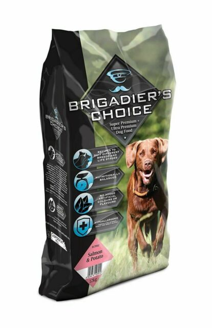 Brigadiers Choice Premium Salmon Potato Dry Dog Food 12kg