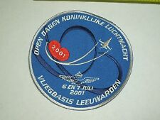 2001 Dutch Royal Airforce Open Day Military Air Show Leeuwarden Sew On Patch