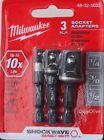 Milwaukee 48-32-5033 Socket Adapter Set ShockWave Impact Duty