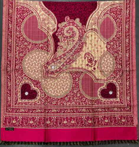 Kashmiri Indian Poly Wool Winter Woolen Wrap Shawl Scarf Stole Poncho Pashmina