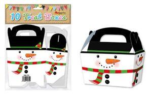 10-scatole-Regalo-Pupazzo-di-neve-Regalo-di-Natale-festa-bambini-cupcake-Natale-Pacco-Borsa
