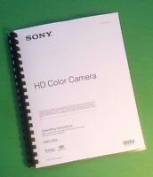 Laser Printed Sony Hxcd70 Hxc-d70 Video Camera 82 Page Owners Manual Guide