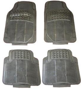 AUDI-A4-AVANT-ESTATE-Waterproof-BLACK-Rubber-Front-Rear-Car-Non-Slip-floor-mats