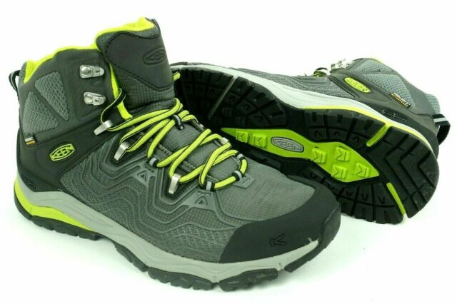 KEEN Men's Aphlex Mid WaterProof Hiking Boots Size 9.5 GargoyleMacaw NWT