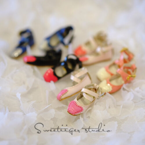 "【Tii】1//6 12/"" Blythe Pullip doll shoes square azone cherryB mmk clothes outfit"