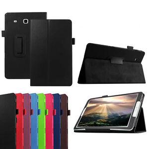 Tri-Flip-Smart-Tablette-Cuir-Support-Housse-Pour-Samsung-Galaxy-Tab-E-T560