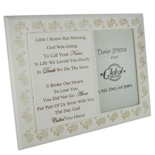 """Remembrance Photo Frame I Knew God Was Going To Call Tribute Wooden 4x6/"""" F1595"""