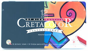 Cretacolor-Pastellcarre-Carre-Hard-Chalk-Pastels-Set-12-Brilliant-Colors