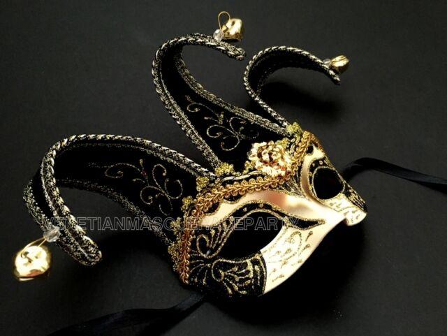 Women Light Pirate Hat Theater Mardi Gras Masquerade Mask Green//Purple//Gold