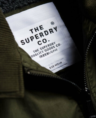 Winter Khaki Dark Longhorn Giacca Harrington New Mens Superdry q0zfw704nE