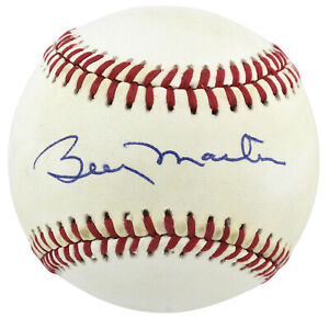 Yankees Billy Martin Authentic Signed Bobby Brown Oal Baseball JSA #Z46456