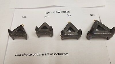 QUANTITY OF 1     8 OZ  CLAW SINKERS SURF