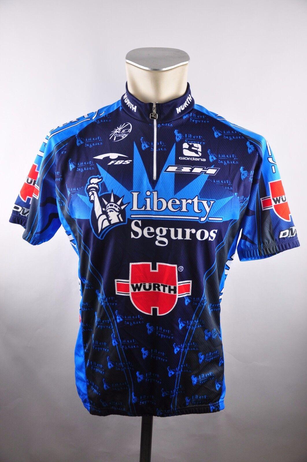 Giordana Liberty Seguros UCI Radtrikot cycling jersey Trikot Gr. XL 58cm BR1