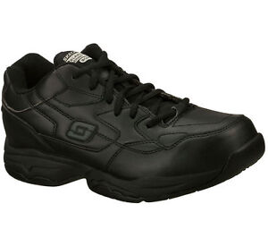 Shoes-Men-039-s-Slip-Resistant-77032-Work-Wide-Width-Black-Skechers-Memory-Foam-Soft