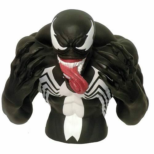 Venom Bust Coin Bank Marvel NEW PVC 7-Inch Spider-Man Licensed Comics