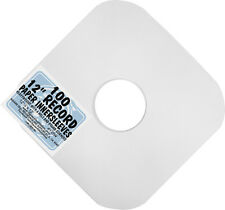 """(100) 12"""" White HEAVYWEIGHT Paper Inner Sleeves LP Vinyl Record PROTECTION #12IW"""