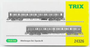 TRIX-Piste-h0-24326-voitures-b4p-2-unites-DR-Ep-III-neuf-dans-sa-boite-Ninja-AC