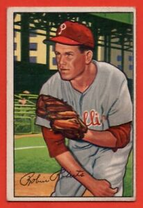 1952-Bowman-4-Robin-Roberts-VG-VGEX-Wrinkle-Philadelphia-Phillies-FREE-SHIP