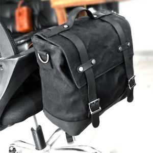Black-Motorcycle-Side-Bag-Tail-Bag-Single-Shoulder-Bag-Hanging-Bag-Universal