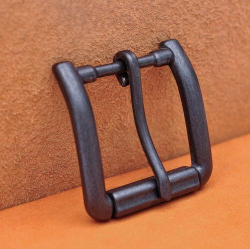 Antiqued Black Quality Solid Single Prong Roller Belt Buckle Fit 40mm Belt Strap