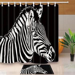 Exceptionnel Image Is Loading Zebra Bathroom Decor Shower Curtain Waterproof Fabric W