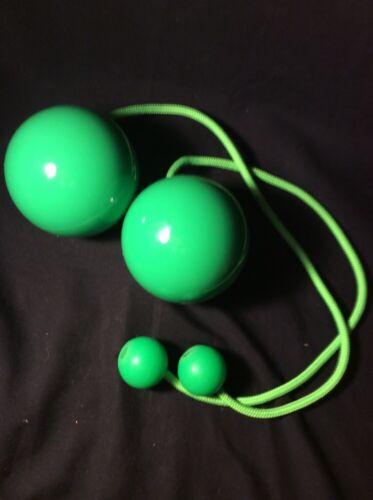 100 mm étape Ball Boules pondérée Poignées UV Paire de contact poi pro avec 80 mm