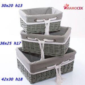 Cesto cestino vimini grigio e frange contenitore armadio - Cestini da bagno ...