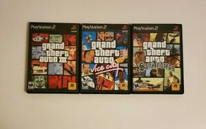 Grand Theft Auto: The Trilogy PS2 GTA(Sony PlayStation 2, 2006) COMPLETE 3 GAMES