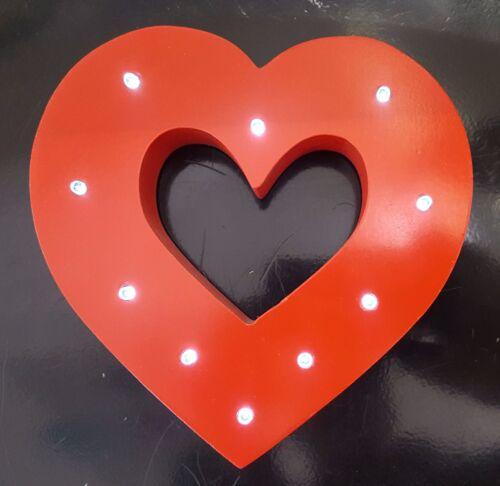 Cœur forme et star shape lumières led en bois blanc debout//suspension uk