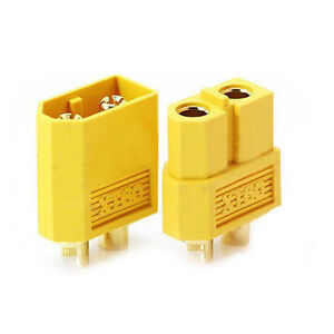 5-Paar-Nylon-XT60-Lipo-Hochstrom-Stecker-Buchse-Goldstecker-Gelb-GY