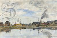 Repro Deco Toile Peinture Retenue A Trouville 1894 Sur Papier 310 Ou 190 Grs