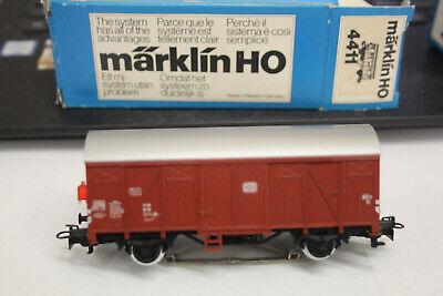 """Märklin H0 4411 Gedeckter Güterwagen der DB /""""mit Schlusslaterne/"""" NEU OVP"""