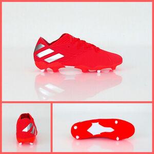 Détails sur Adidas Chaussures Football Nemeziz 19.2 Fg F34385 Coul. Rouge Argent Mai 2019