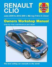 Haynes Manual 6340 Renault Clio 1.2 1.6 Petrol & 1.5 Diesel Jun 2009 - 2012
