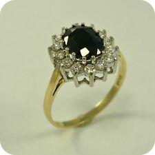 Sapphire & Cubic Zirconia 9 carat Gold Ring