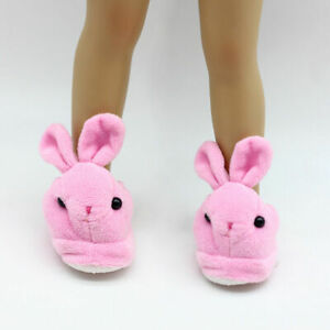 Cute-Pink-Bunny-Slippers-18-Inch-Doll-Clothes-Fits-Toys-HandmadeT-18-034-Dolls-N9Y8