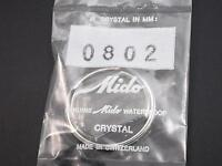 Ref0802 Genuine Mido Waterproof Vintage Watch Crystal 32mm Outside Diameter