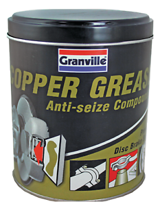 Details about Granville Car Brake Calipers Pads Discs Squeal Anti Seize  Copper Grease 500g Tub