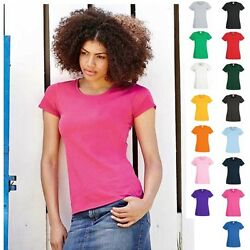 Fruit of the loom T-Shirt Valueweight Lady Fit Damen Frau Woman Value Shirts