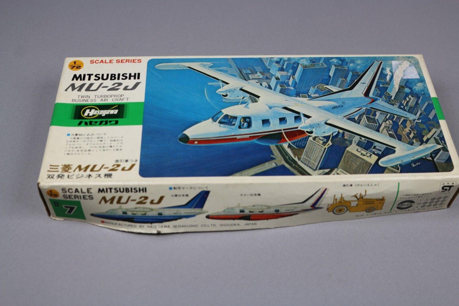 ZF147 Hasegawa 1 72 maquette avion D7 D007 500 mitsubishi MU-2J twin turboprop