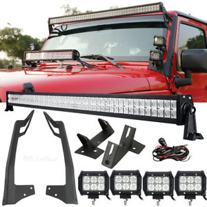 52-034-700W-4-034-LED-Light-Bar-Mounting-Bracket-For-Jeep-Wrangler-JK-2007-2018
